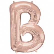 "Rose Gold Letter B Balloon - Rose Gold Letter Balloon (34"")"